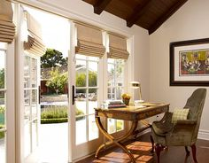 Adding Style to your Home with Modern Window Blinds - Roman Shades on French Doors