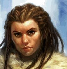 Female dwarf face portrait