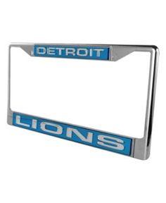 Rico Industries Detroit Lions License Plate Frame - Black