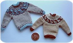 1:12th scale Icelandic style sweater with horses