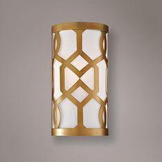"Crystorama Jennings 12"" High Aged Brass Wall Sconce - #7T315 | www.lampsplus.com"