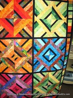 Majestic Mountain Quilt by Raymond Steeves; 3 Dudes Quilting
