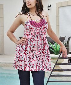Take a look at the Pink Cutout Empire-Waist Tank on #zulily today!