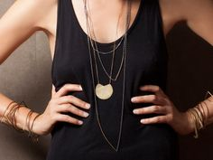 Take a stand in gold, silver, and bronze jewelry by Fay Andrada.
