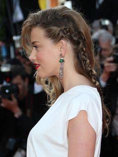 Le one shoulder tressé d'Amber Heard #Cannes2014