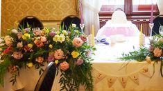Krzesełko na roczek | Dekoracja krzesełka| Dekoracje na roczek| Roczek dziewczynki | Chrzest dziewczynki | Dekoracje na Chrzest | Kwiaty na Chrzest | Kwiaty na stół główny