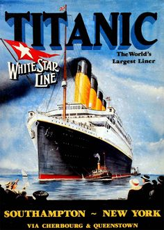 A poster advertises the RMS Titanic's maiden voyage. (The New York Times)