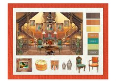 Indian inspired interior #olioboard Interior Presentation, Indian Interiors, Interior Design Boards, House Design, Inspired, House Styles, Painting, Home, Painting Art