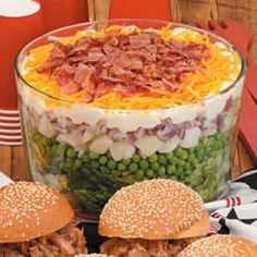 7-10 Split Layered Salad - luv this salad - makes me think of my aunt terry - i always looked for it at our family get-togethers  - YUM