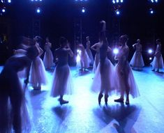NYCB dancers in costume for Serenade (by Gwyneth Muller)