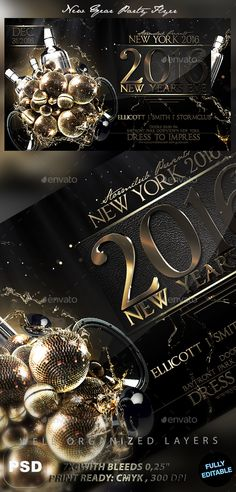 New Year Party Flyer  Party Flyer Christmas Flyer And Event Flyers