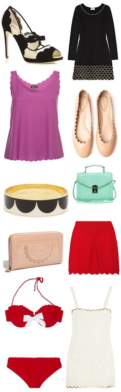 Scallop Style and Fashion Trends Spring Summer 2012