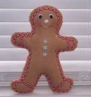 pattern & sewing instructions to make a learn to sew gingerbread man