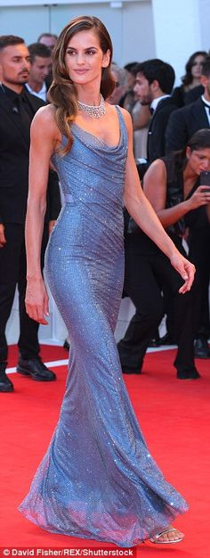 Looking good: Izabel Goulart took centre-stage at the Downsizing premiere during the Venice Film Festival