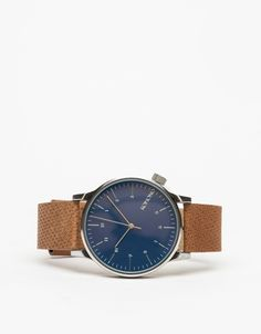 Komono Winston Watch | Blue Cognac - $90