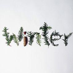 #winter #typography