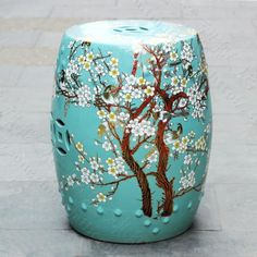 China plum blossom painting ceramic drum porcelain garden stool Glazed ceramic ceramic chinese ceramic stool-in Toilet Seats from Home Improvement on Aliexpress.com | Alibaba Group