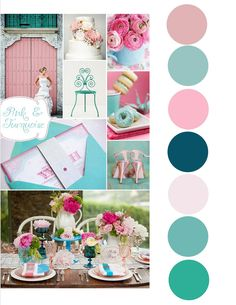teal and pink wedding - Google Search