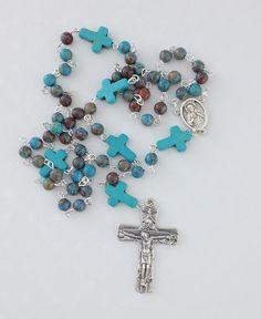 Catholic Rosary UK Turquoise 5 Decade  Traditional Rosary
