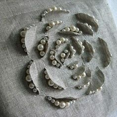 Ideas Embroidery Designs Fashion Embellishments Texture For 2019 Flower Embroidery Designs, Ribbon Embroidery, Embroidery Stitches, Embroidery Patterns, Sewing Patterns, Embroidery Art, Embroidery Techniques, Sewing Techniques, Sewing Hacks