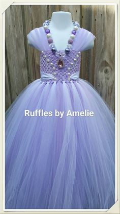 Sofia the First Tutu Dress in Lavender/ white & by Rufflesbyamelie