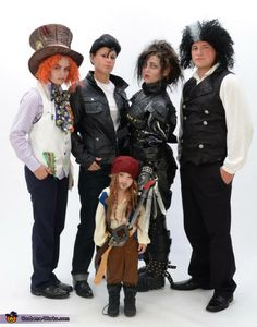 Amanda: It was my friends idea. Very unique I'd say. It's a family photo. Of Sweeney Todd. Edward Scirrorshands. Crybaby Walker. Mad Hatter. And Captain Jack Sparrow.