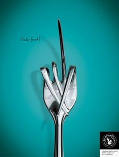 "QUALITY FOOD RETAIL OUTLET: ""FORK"" Print Ad by Draft Sao Paulo"