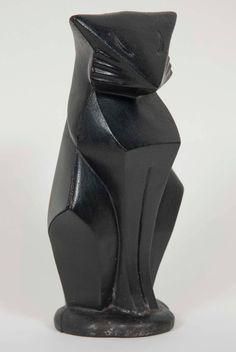Art Deco Cast Iron Cat by Hubley