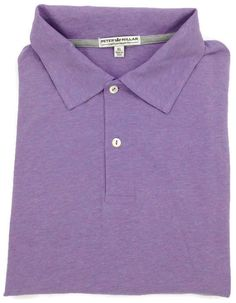 Peter Millar Contemporary Fit Polo Shirt Mens XL Short Sleeve s Lavender Golf Sz #PeterMillar #PoloRugby