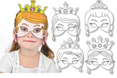 Set de 4 masques Princesses NL