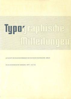 Cover Typographische Miteillungen, 29. Jahrgang, Heft 7, Juli 1932.