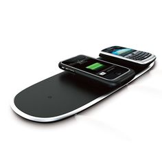 Powermat™ Wireless Charging Mat lets you charge your devices without cables or wires. Home & Office Mat is designed to hold and charge up to three devices at a time—plus a fourth via built-in USB port. Perfect for the office or use at home; works with 1000s of devices using dedicated receivers (sold separately) or the universal Powercube receiver. It's the easy way to keep your smartphone charged. Powercube lets you charge any USB device. Got an older phone or device for which a Powermat…