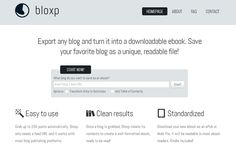 Homepage de Bloxp