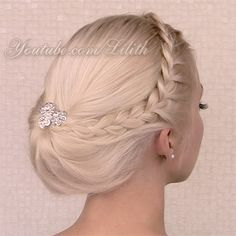 Gibson tuck hairstyle from my recent hair tutorial http://www.youtube.com/watch?v=oyxmK7KWY-M decorated for special events.