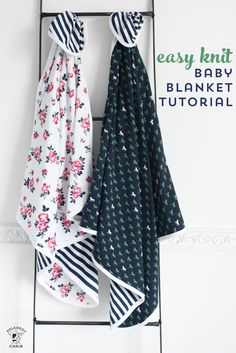 Learn how to make an easy baby blanket using knit fabrics with this free baby blanket sewing tutorial. So soft and perfect for baby! #sewing #sewingtutorials #sewingforbaby #babysewingproject #babygiftideas #easygiftideas #giftstosew #babygifts