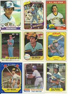 HUGE 150 + Different  PAUL MOLITOR card lot VINTAGE 1979 - 98 Brewers Jays Twins #MilwaukeeBrewers