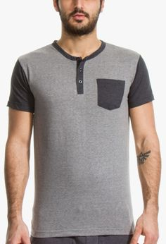 The Elwood Henley in Grey and Charcoal