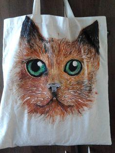 Rude kocie- ręcznie malowana torba