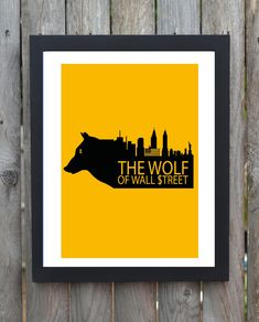The Wolf Of Wall Street minimal minimalist movie poster