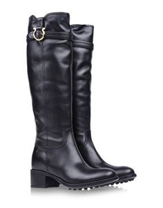THE A TO Z OF SHOE SHOPPING - always classic and ladylike chic like these riding boots, love the buckle - Salvatore Ferragamo fall 2013