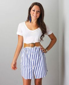 mens shirt into skirt...pretty sweet by deena