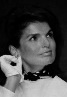 "Jackie Kennedy with just a ""touch"" of polka dots...trendy then and oh so trendy now!"