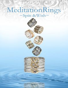 Hand Crafted Gold & Sterling SIlver Meditation Rings Meditation Rings, New Leaf, Dear Santa, Spinning, Class Ring, Rings For Men, Wedding Rings, Engagement Rings, Band