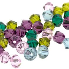 5328 4mm Swarovski Elements Crystal Mix - Crush | Fusion Beads