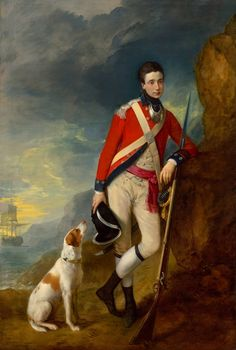 An officer of the 4th Regiment of Foot - Thomas Gainsborough.