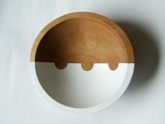 """Very chic bowls for a raw space // On the Horizon Hardwood Small 7"""" Bowl, White Bean NicolePorterDesign via Etsy."""