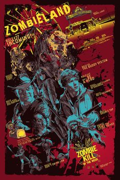 """"""" Zombieland fan poster is tapped out Fan Poster, Movie Poster Art, Poster Wall, Zombieland Movie, Zombie Movies, Chandler Riggs, Horror Movie Posters, Theatre Posters, Movie Covers"""
