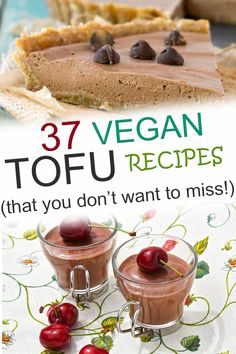 When you are looking for vegan tofu recipes, these easy, healthy options are perfect for dinners, breakfast, lunch, snacks, and desserts! These are the best ideas for simple meals that show you: Tofu is NOT scary!