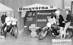 Brian Leask Motors at the annual Motorcycle Show.  #1960s #vintage #motocross #husqvarna   #England  © Copyright Irene Leask