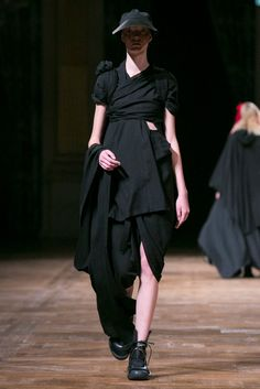Yohji Yamamoto's latest collection.